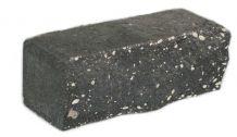 Камень кирпич с колотой поверхностью Чёрный
